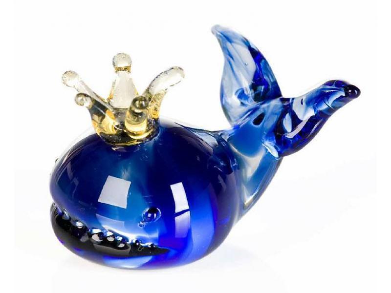 vetro-gallery-glassculptuur-walvis-met-kroontje
